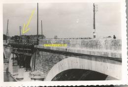 WW2 PHOTO ORIGINALE Pont Ko LES PONTS DE CE Près ANGERS MAINE ET LOIRE 1941 - 1939-45