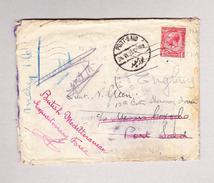"GB 17.5.1915 Georg 1p. Schiffsbrief Nach Port-Said Vermerk ""British Meditteranean Expeditonary Force"" - Lettres & Documents"