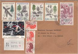 Enveloppe Recommandée De Paris Pour La Suisse, 1985. - Postmark Collection (Covers)