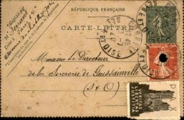 FRANCE - Entier Postal + Complément De Corbeil Pour Goussainville En  1920 , Vignette PAX - A Voir - L 5864 - Postal Stamped Stationery