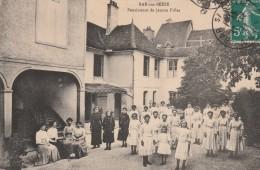 BAR SUR SEINE - LE PENSIONNAT DE JEUNES FILLES - BELLE CARTE TRES TRES ANIMEE - 2 SCANNS -  TOP !!! - Bar-sur-Seine