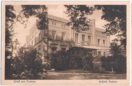 Gruß Aus TANTOW Schloß Uckermark Autograf Adel An Frl Von Jagnow 16.4.1926 Gelaufen - Gartz