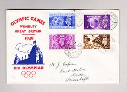 GB CORTON 29.7.1948 Ortsbrief Olympic Games Mit Dito Marken XIV Olympiade - 1902-1951 (Rois)