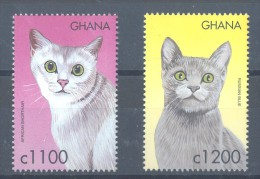 Ghana - 2000 Cats MNH__(TH-11797) - Ghana (1957-...)