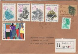 Enveloppe Recommandée De Paris Pour La Suisse, 1986. - Postmark Collection (Covers)