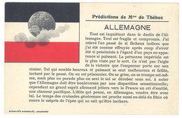 Cpa  Prédictions De Mme De Thèbes - Allemagne   ((S.1239)) - Non Classés