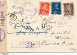 ROMANIA - SAN-PETRU GERMAN (Deutschsanktpeter)  - 1942 , R-Brief In Den Kreis Wolfenbüttel  - Zensur - Rumänien