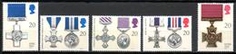 FJ2607 : Grande-Bretagne Yvert N°1484 à 1488 Neuf 1990 Médailles Militaires - Ungebraucht