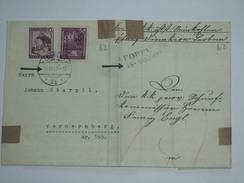 AUSTRIA 1847 VORPHILA ENTIRE LEOBEN TO BRUCK RE-SENT A CENTURY LATER LEOBEN TO VORDERNBERG - Autriche