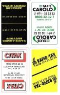 4 Dos De Carte  : Taxis Ahmed Souvret - Carolo - Citax - Rapid - Tax - Charleroi - Cartes à Jouer Classiques
