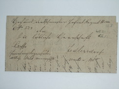 AUSTRIA 1847 VORPHILA ENTIRE LEMBERG (LVIV UKRAINE) TO JEDLERSDORF - ...-1850 Préphilatélie