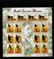 IRELAND/EIRE - 2002  SOCCER  WORLD CHAMPIONSHIP SHEETLET  MINT NH - Blocchi & Foglietti