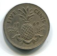 1969 Bahamas 5 Cent Coin - Bahamas