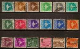 India  Sc#  302-319  Used  Complete Set  1958 - 1950-59 Republic
