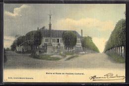 CPA 27 - Houlbec-Cocherel, Mairie Et Route De Houlbec-Cocherel - Autres Communes