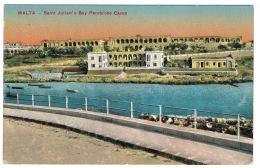 RB 1131 - Early Malta Postcard - Saint Julian's Bay & Pembroke Camp - Malta