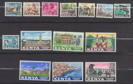 Kenya  1963  Indépendance : Série Courante  5c Au 20/-   * MLH - Kenya (1963-...)