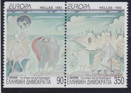 Europa Cept 1993 Greece 2v From Booklet ** Mnh (33875) ROCK BOTTOM PRICE - 1993