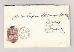 GB LONDON 25.4.1877 Damenbrief Nach Burgdorf - Lettres & Documents