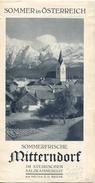 Mitterndorf Steiermark 1931 - Faltblatt Mit 1 Abbildung - Pensionspreise - Reiseprospekte