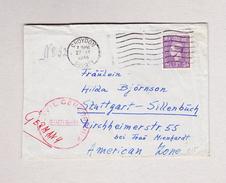 GB CROYDON 27.12.1946 Brief Nach Stuttgart Dort Zensuriert - 1902-1951 (Rois)