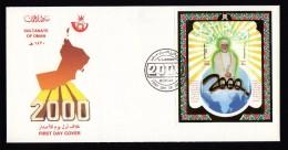 OMAN 2000 Sultanate Of Oman S/Sheet On Fdc. - Oman