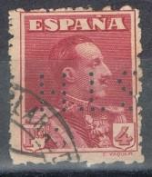 Sello 4 Pts Alfonso XIII Vaquer, Perforado Comercial S.T.H., Perfin, Num 246 º - 1889-1931 Reino: Alfonso XIII