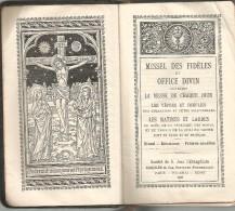 Religion Bible Missel Des Fidèles Et Office Divin Messe De Chaque Jour Français Latin -  Imp Desclée 1927 - Religione & Esoterismo