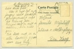 Nederlands Indië - 1915 - KB BARAT Met Na Posttijd Op Kaart Van Rotterdamsche Lloyd - Zegel Weg / Stamp Missing - Nederlands-Indië