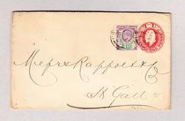 GB 16.5.1903 Ganzsache 1 Penny Mit 1 1/2 Zusatz Nach St Gallen - 1902-1951 (Rois)