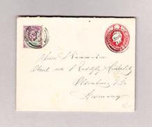 GB BOURNEMOUTH 21.4.1902 Ganzsache 1 Penny Mit 1 1/2 Zusatz Nach Oldenburg Deutschland - Lettres & Documents