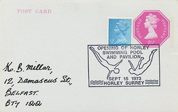 GREAT BRITAIN -   HORLEY SURREY - SWIMMING POOL AND PAVILION - TUFFI