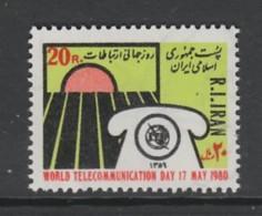 TIMBRE NEUF D´IRAN - JOURNEE MONDIALE DES TELECOMMUNICATIONS N° Y&T 1791 - Télécom