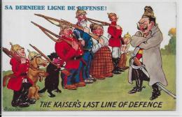 CPA Satirique Caricature Guerre 14-18 Patriotique Germany Kaiser Non Circulé Teckel Dackel Dachshund - Satirische