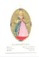 Carte Baromètre - Femme En Robe Changeant De Couleur En Fonction Du Temps - Découpis - Météo (lau) - Mujeres