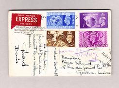 GB 2?.7.1943 Exprès Ansichtskarte (London Tower Bridge) Nach Genève Mit Olympic Games 1948 Marken - 1902-1951 (Rois)