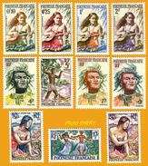 Polynésie **LUXE 1958 P 1 à 11 Série 11v - Polinesia Francese
