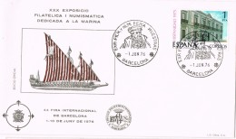 20374. Carta Exposicion BARCELONA 1976. Feria De Muestras, Marina, Barco - 1931-Hoy: 2ª República - ... Juan Carlos I