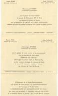 ECOMUSEE DE LA BRESSE BOURGUIGNONE- 3 INVITATIONS - Vecchi Documenti