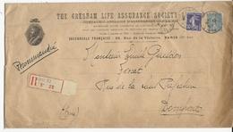 1922 - SEMEUSE Sur ENVELOPPE RECOMMANDEE GF PUBLICITAIRE DECOREE De PARIS Pour DOMFRONT (ORNE) - 1921-1960: Période Moderne