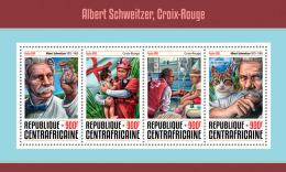 CENTRAL AFRICA 2016 - Albert Schweitzer, Red Cross. Official Issue