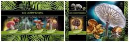 DJIBOUTI 2016 - Mushrooms, M/S + S/S. Official Issue - Paddestoelen