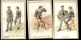3 CHROMOS GUERIN BOUTRON MARINE Timonier Allez Me Chercher Un Dossier Dans Ma Chambre..... 13 - Guérin-Boutron