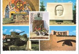Militaria-Guerre 1939-1945-Bastogne-Multivues-Crypte-Monument Patton Et Général Mac Auliffe-Tank-Mardasson - Oorlog 1939-45