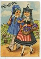 Bourgogne - Dessin De Nadine  Dufourt ( Couple Bressan Et Bressane) N°177/8 Lyna Vierge (folklore) - France