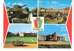 Militaria-Guerre 1939-1945-Bastogne-Multivues-Blason-Place Général Mac Auliffe-Tank-Monument Patton-Mardasson - Oorlog 1939-45