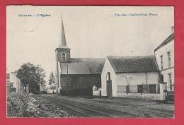 Gistoux - L'Eglise ... Rails Du Tam - 1909 ( Voir Verso ) - Chaumont-Gistoux