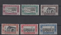 Francobolli Colonie Italiane 1927 Libia 1 Fiera Di Tripoli Serie Cpl MLH - Libia