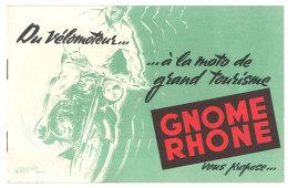 Livret Papier Moto Vélomoteur,  Gnome & Rhone - Publicités