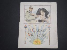 FRANCE - Le Carnet De La Victoire En 1919  , Souvenir Patriotique - A Voir - L 5931 - Collections